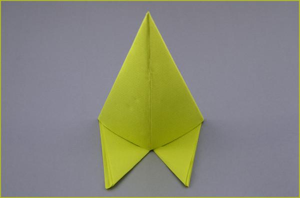 Servietten Falten Anleitung Bild Grün Einfach Pfeiler schnell