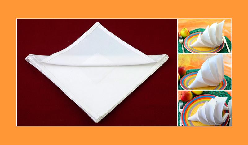Servietten falten Anleitung Igel weiss Hochzeit Geburtstag
