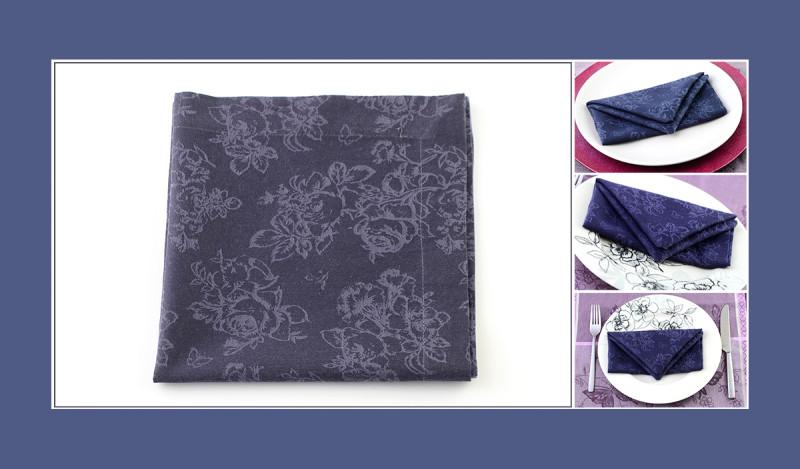 Servietten falten Anleitung Tasche blau Geburtstag elegant