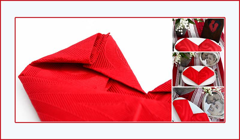 Servietten falten Anleitung Herz Valentinstag romantisch