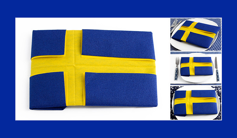 Faltanleitung Schwedische Flagge