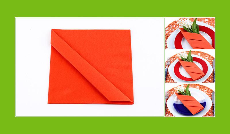 Servietten falten Bestecktasche Anleitung Etui