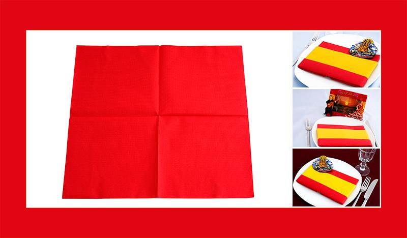 servietten falten anleitung spanische flagge. Black Bedroom Furniture Sets. Home Design Ideas