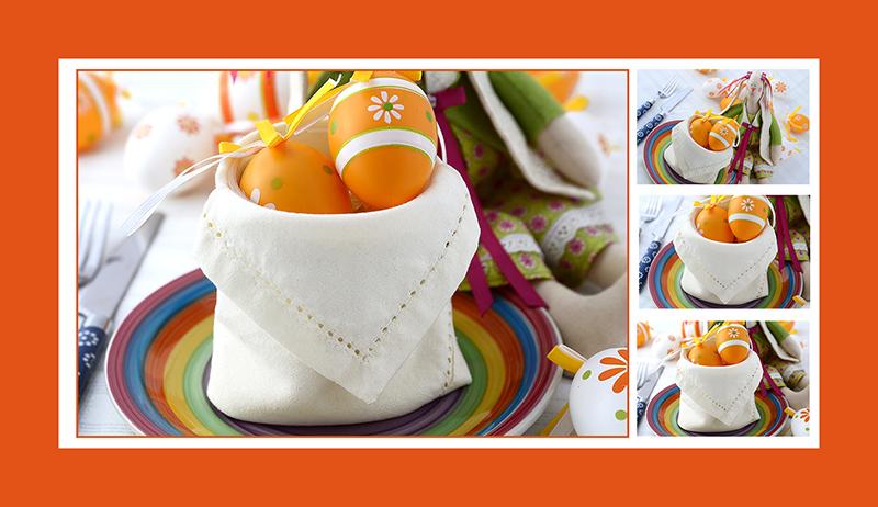 Servietten falten Ostern Anleitung Eierkorb 12