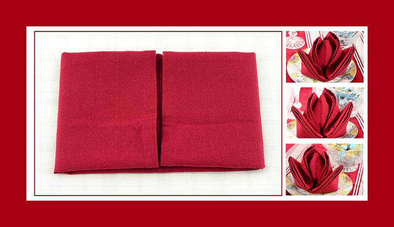 servietten falten rose. Black Bedroom Furniture Sets. Home Design Ideas
