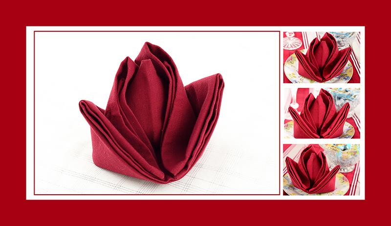 Servietten falten Blumen