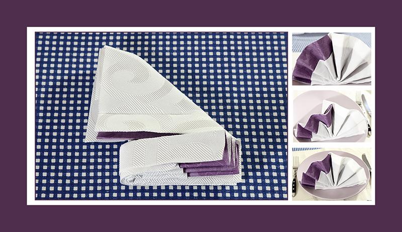 servietten falten f cher zwei servietten. Black Bedroom Furniture Sets. Home Design Ideas