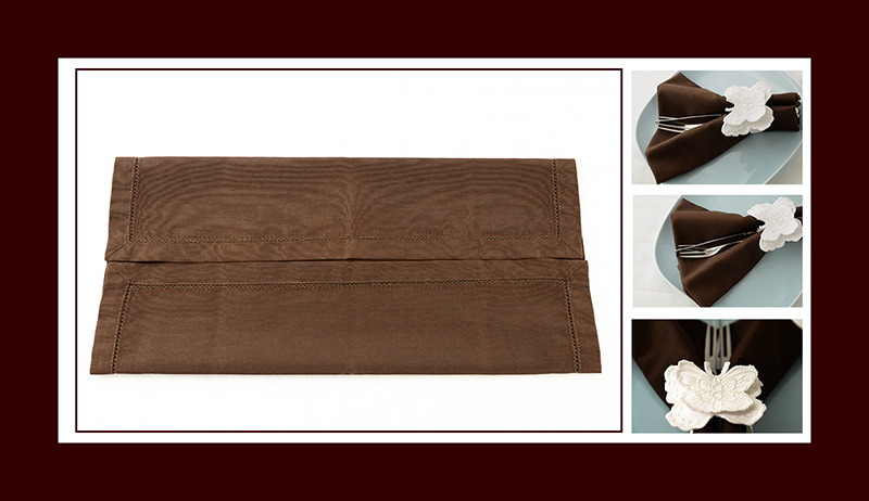 Servietten falten Kaffeetafel