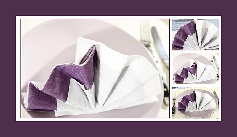 Servietten faltenfür Hochzeit zwei Servietten