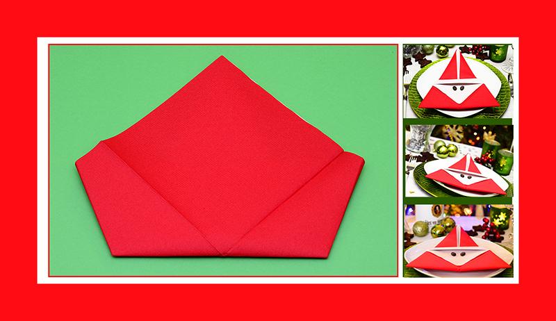 Servietten Falten Papierservietten rot