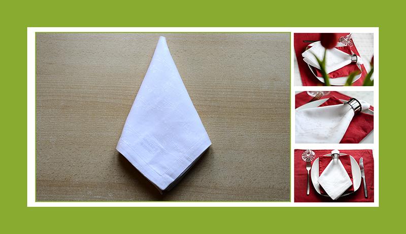 Servietten falten Krawatte Stoffseerviette