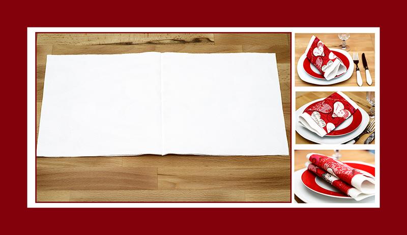 Servietten falten zum Valentinstag Anleitung 04