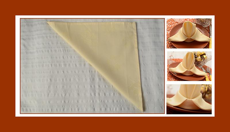 Servietten falten Anleitung Lilie aus Stoffserviette