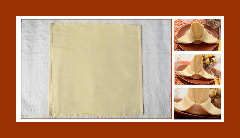Servietten falten Lilie aus Stoffserviette