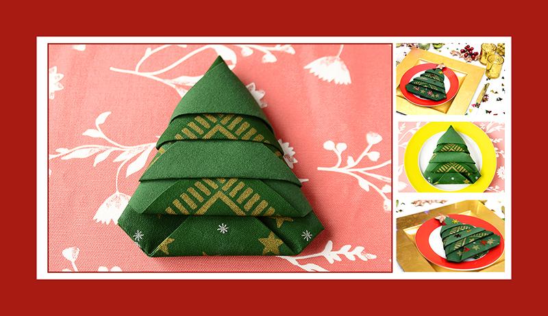 Servietten falten Weihnachtsbaum Tannenbaum Weinachten 03