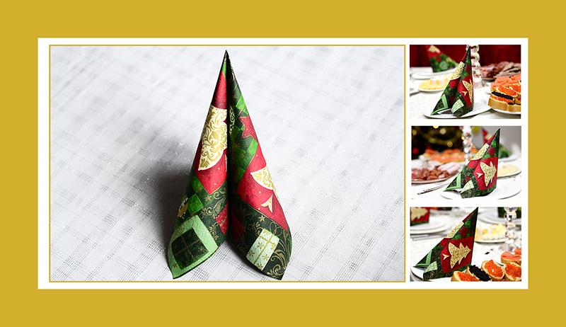 Servietten falten Weihnachtsservietten