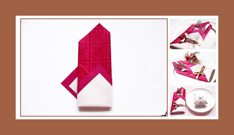 Elegante Bestecktasche aus zwei Papierservietten