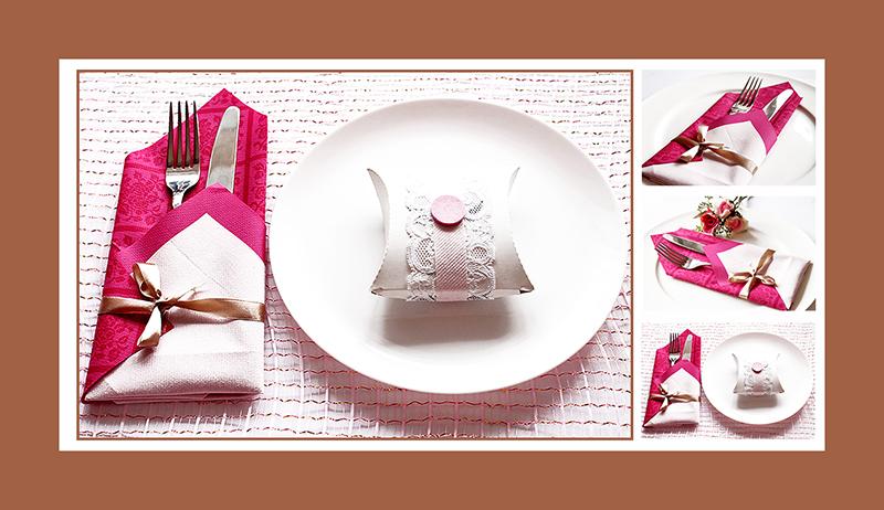 Servietten falten Valentinstag 04. Elegante Bestecktasche aus zwei Servietten